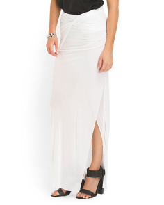 image of Twist Front Maxi Skirt