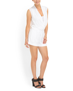image of Faux Wrap Jumpsuit