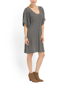image of Cotton Blend Sweater Dress