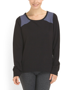 image of French Terry Pullover Top