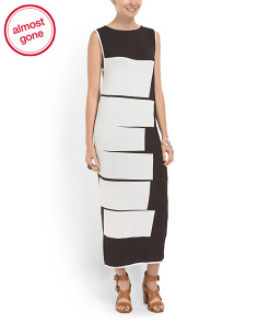 image of Colorblock Jersey Maxi Dress