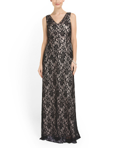 image of Lace Sleeveless Gown