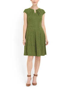 image of Fit And Flare Textured Dress