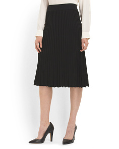 image of Ribbed Midi Skirt