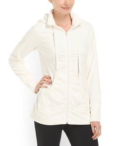 image of Full Zip Hooded Fleece Jacket