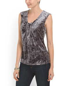 image of Crushed Velvet Top
