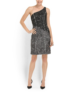 image of One Shoulder Cocktail Dress