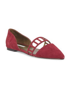 image of Kid Suede Eloise D'orsay Flat