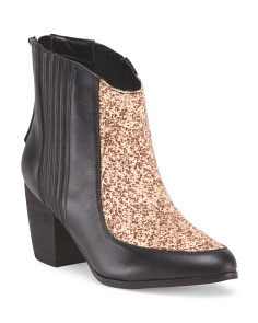 image of Leather Trupento Stitch Bootie