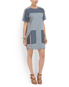 image of Railroad Stripe Dress