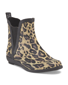 image of Leopard Pull On Rain Boot