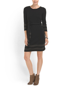 image of Sweater Dress With Belt