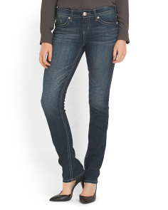 image of Flap Back Pocket Straight Jean