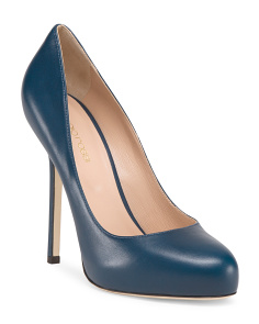 image of Made In Italy Leather Barbie High Heel Pump