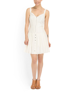 image of Zip Front Corset Dress