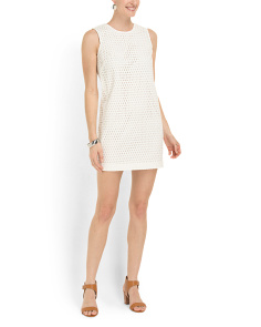 image of Eyelet Shift Tank Dress
