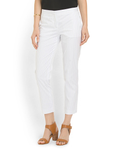 image of Custom Stripe Cropped Pant