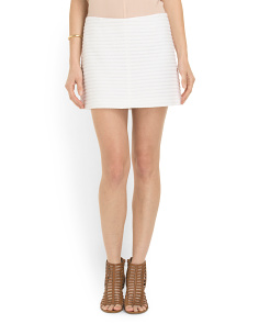image of Keeta Textured Mini Skirt