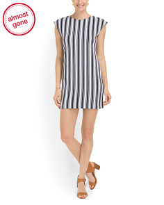 image of Backon Striped Tee Dress