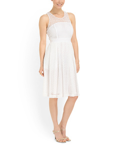 image of Geri Fit And Flare Lace Dress