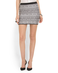 image of Textured Mini Skirt