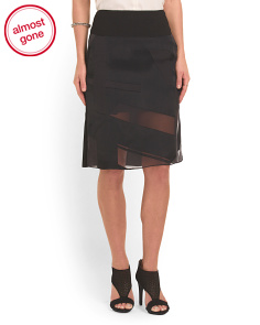 image of Hexa Skirt With Sheer Panels