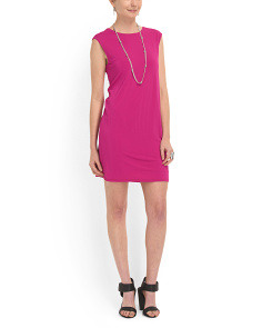 image of V Neck Back Shift Dress