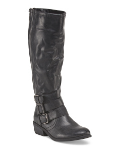 High Shaft Boot With Buckle