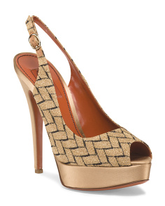 image of Made In Italy Platform Peep Toe Pump