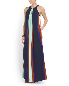 image of Silk Blend Jordan Maxi Dress