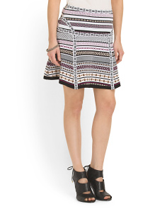 image of Flote Banded Dot Flared Skirt
