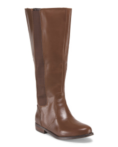 Leather Wide Calf Boot