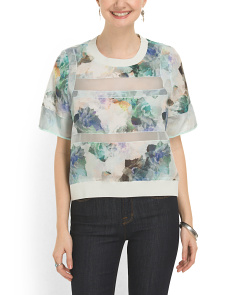 image of Watercolor Pieced Blouse