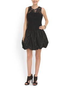 image of Lace And Taffeta Dress