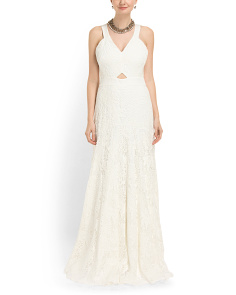 image of Halter Lace Gown