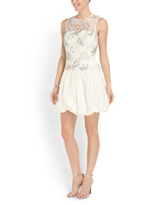 image of Embellished Lace Dress