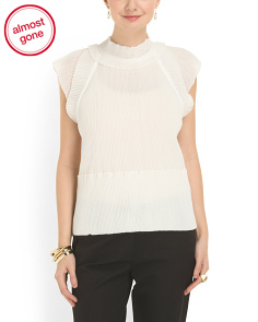 image of Made In Italy Pleated Blouse