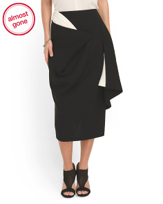 image of Silk Peekaboo Skirt