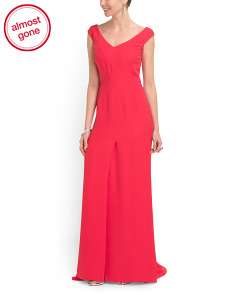image of Silk V Neck Gown