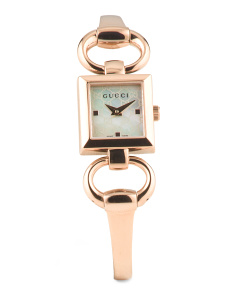 image of Women's Swiss Made Rose Gold Plated Stainless Steel Watch