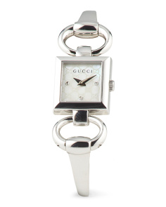 image of Women's Swiss Made Silver Plated Stainless Steel Watch
