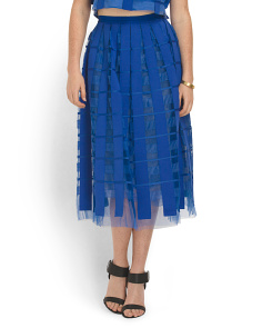 image of Silk Marisol Formal Midi Skirt