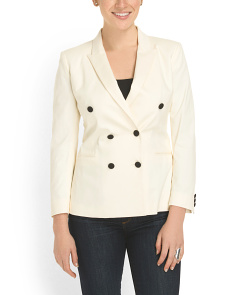 image of Sateen Peak Lapel Jacket