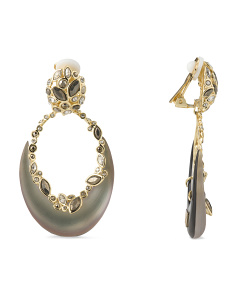 image of Orbiting Crescent Earrings
