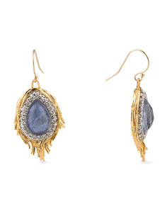 image of Feather Sodalite Earrings