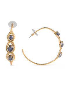 image of Crystal Hoop Earrings