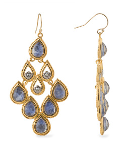 image of Scalloped Chandelier Earrings