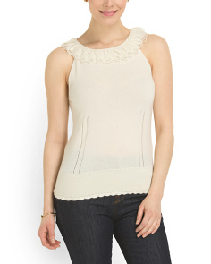 image of Cashmere Ruffle Neck Sweater