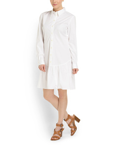image of Long Sleeve Shirt Dress