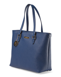 image of Made In Italy Leather North South Tote